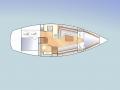 Interior plan Beluga J32 sailing yacht